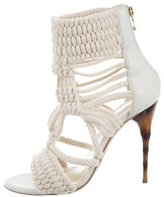 Balmain Leather-Trimmed Rope Sandals