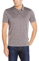 Perry Ellis Men's Solid Heather 2 Button Polo