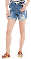 Gibson & Latimer Distressed Cuffed Denim Short