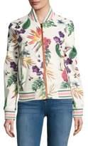 Bagatelle Floral-Print Bomber Jacket