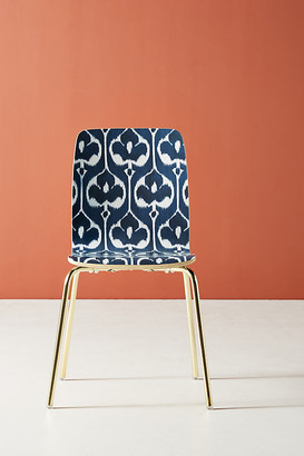 Anthropologie Ikat Tamsin Dining Chair By in Blue Size ALL