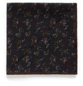 Isaia Small floral print wool-silk pocket square