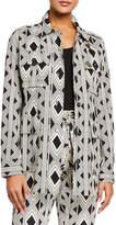 Figue Geometric-Print Safari Jacket