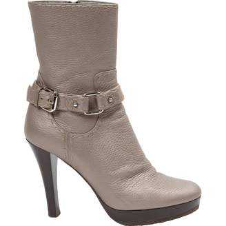 Fendi \N Grey Leather Ankle boots