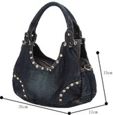 Genda 2Archer Women Casual Tote Denim Shoulder Bag Handbag Satchel Hobo Bag