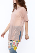 Cotton Candy Blush Mesh Top