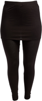 Bellino Black Skirted Leggings - Plus