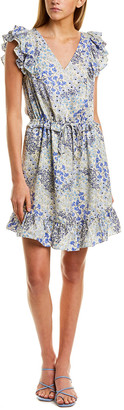 Rebecca Taylor Ava V-Neck Silk Shift Dress