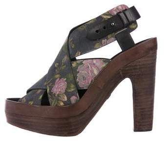 Rag & Bone Floral Crossover Sandals
