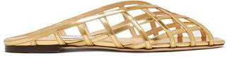 Jimmy Choo Sai Caged Metallic-leather Sandals - Womens - Gold