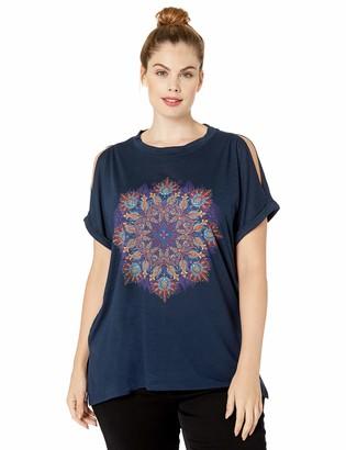 Jessica Simpson Women's Ada Split Sleeve Graphic Tee Shirt