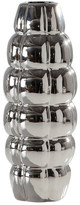 Torre & Tagus Chrome Blimp Ceramic Tall Vase