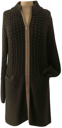 Max Mara 's Green Wool Coat for Women