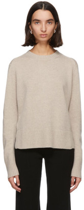 S Max Mara Taupe Knit Cashmere Getti Sweater