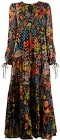 Rixo Lori tie-neck maxi dress