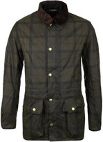 Barbour Beattock Olive Green Checked Wax Jacket