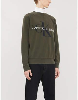 CK Calvin Klein Monogram logo cotton-jersey sweatshirt