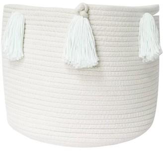 Twig + Tassel Mint Tassel Basket - Medium