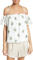 Milly Eden Palm Tree Print Top