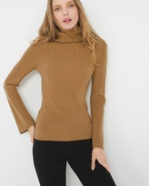 White House Black Market Bell-Sleeve Turtleneck Sweater