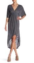 Anama Ruched V-Neck Dress