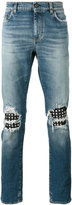 Saint Laurent stud detail jeans - men - Cotton/Lamb Skin/Spandex/Elastane/Brass - 29