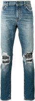 Saint Laurent stud detail jeans - men - Cotton/Lamb Skin/Spandex/Elastane/Brass - 30