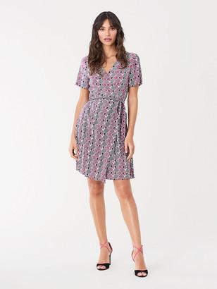 Diane von Furstenberg Savilla Crepe Mini Wrap Dress