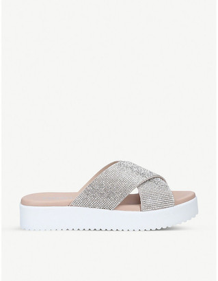 Carvela Kryptonite rhinestone-embellished suede sandals