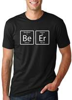 Crazy Dog T-shirts Crazy Dog Tshirts Mens Element of Beer (Be-Er) Nerdy Science T-Shirt