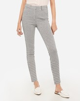 Express High Waisted Plaid Skinny Pant