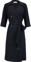 DKNY Belted crepe dress