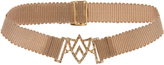 Jade Jagger Diamond & yellow-gold Chevron Shield bracelet