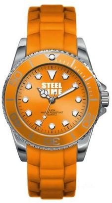 STEELTIME Steel Time stf003OriginalLadies WatchAnalogue QuartzDial Orange Rubber Strap Orange