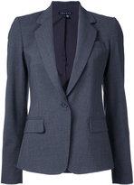 Theory flap pockets fitted blazer - women - Spandex/Elastane/Wool - 4
