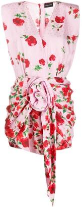 Magda Butrym Ruched Floral Print Dress