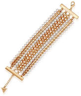 Guess Call Me Pearl Faux Pearl Chain Line Bracelet