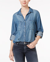 Velvet Heart Grayson Tab-Sleeve Chambray Shirt