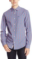 Original Penguin Men's P55 Mini Plaid Long Sleeve Wo