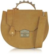 Salar Eva Cognac Nubuck Shoulder Bag