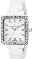 Peugeot Swiss Ladies White Genuine Ceramic Crystal Bezel Watch PS4903WT