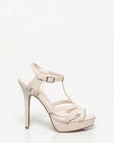 Le Château Leather-Like T-strap Platform Sandal