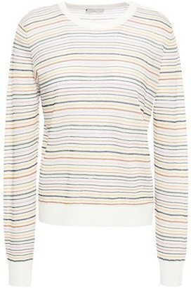 Joie Striped Linen-blend Sweater
