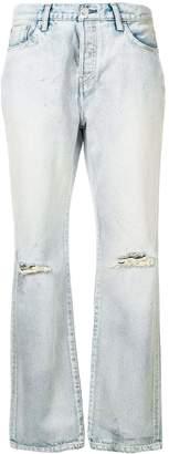 John Elliott ripped bootcut jeans