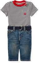 Ralph Lauren T-Shirt, Belt & Jean Set