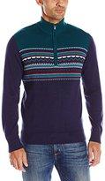 Izod Men's Fairisle 1/4 Zip Sweater