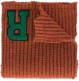 Raf Simons logo patch scarf