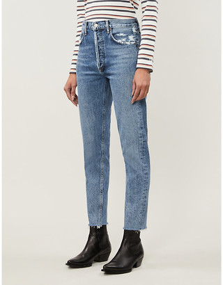 A Gold E Jamie Classic high-rise straight jeans