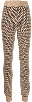 Chanel Pre Owned 2010s honeycomb-weave trousers