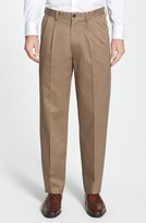Nordstrom Men's 'Classic' Smartcare(TM) Relaxed Fit Double Pleated Cotton Pants